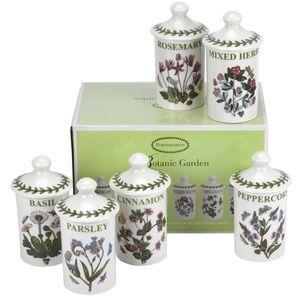 Portmeirion Botanic Garden 6 Herb & Spice Jars